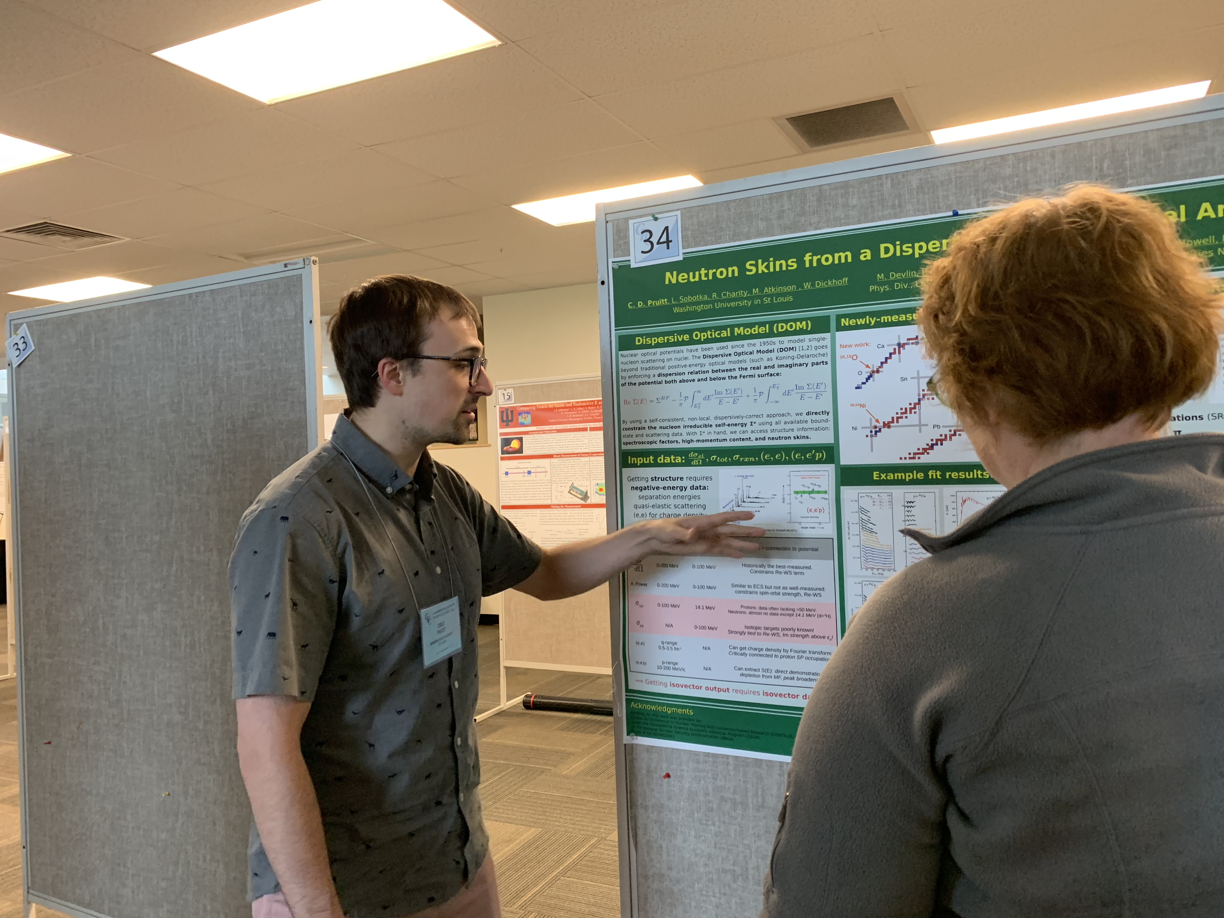 A CENTAUR graduate student presents his award-winning poster.